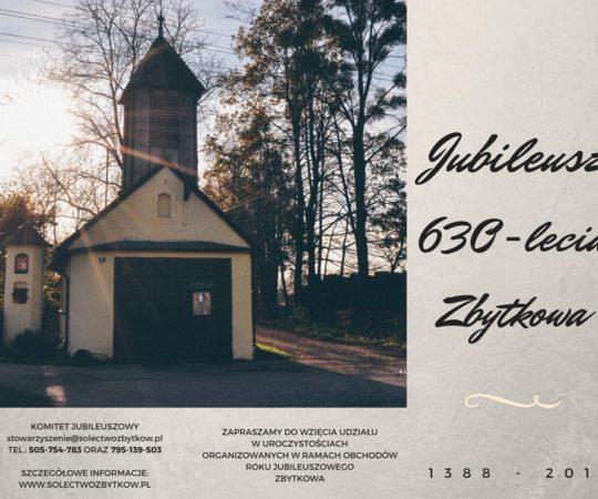 Kalendarz wydarzeń z okazji Jubileuszu 630-lecia sołectwa Zbytków