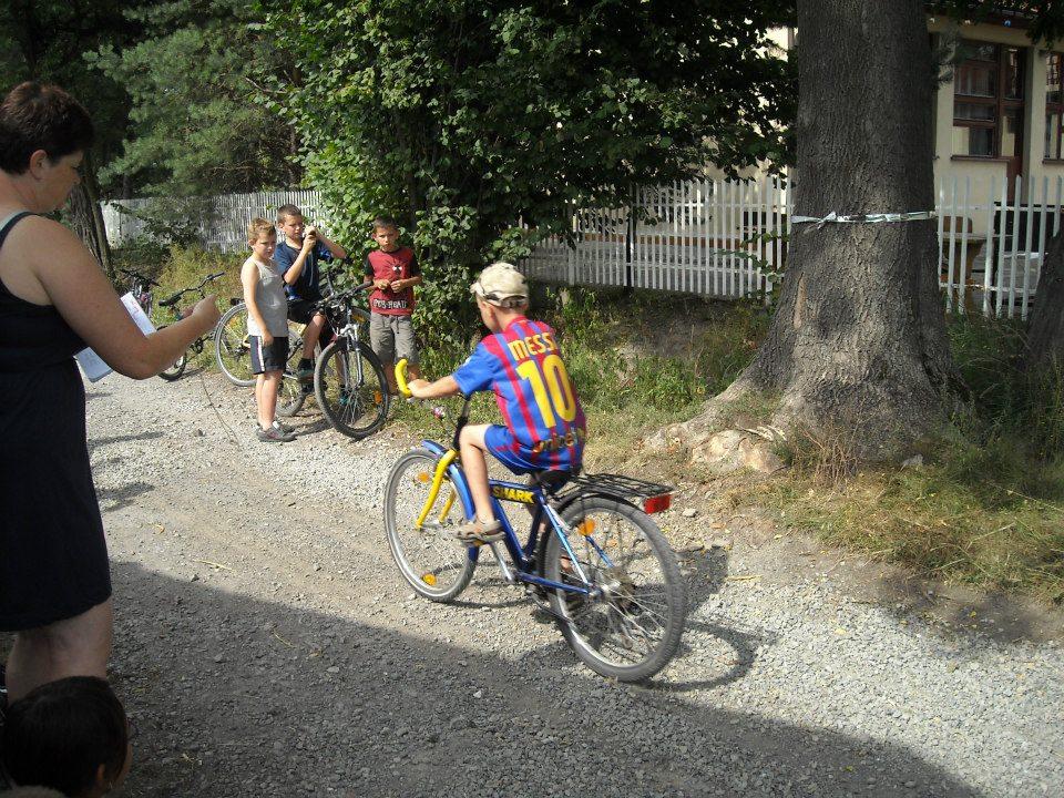 Świetlicowy wyścig rowerowy