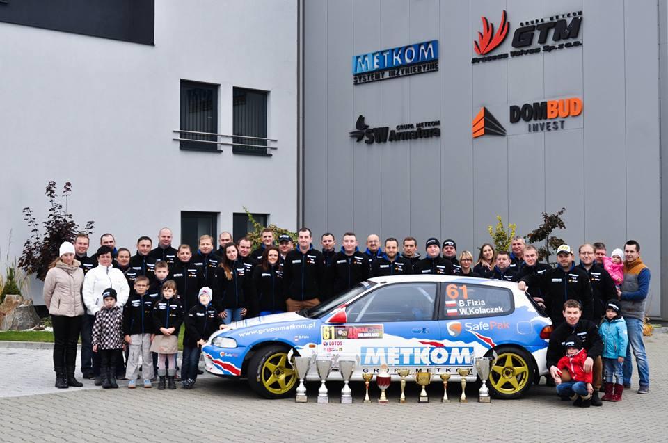 Załoga Metkom Rally Team na starcie