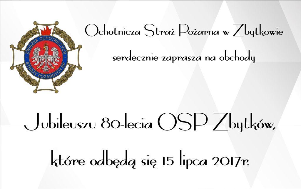 OSP Zbytków świętuje jubileusz