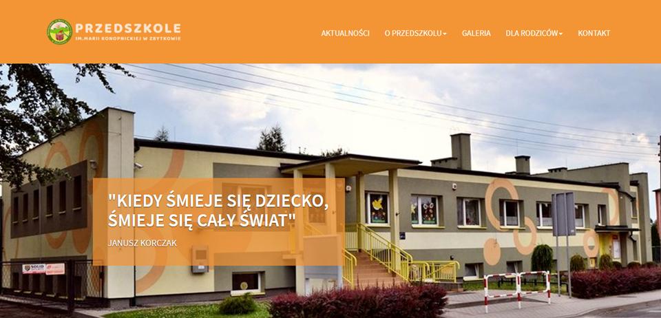 Nowa strona internetowa przedszkola w Zbytkowie!