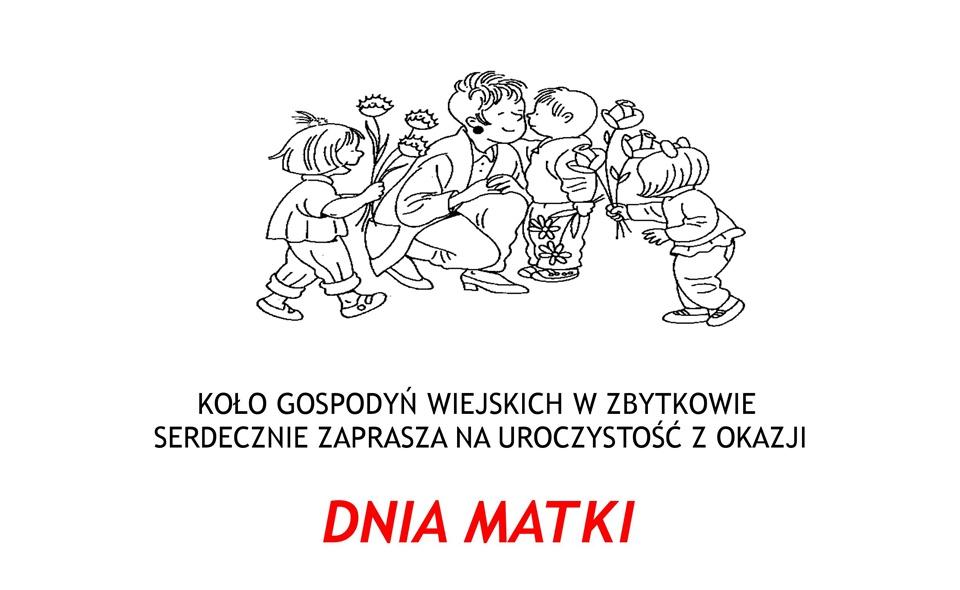 KGW zaprasza na Dzień Matki w Zbytkowie
