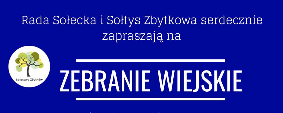 Zebranie Wiejskie w celu rozdysponowania środków w ramach funduszu sołeckiego
