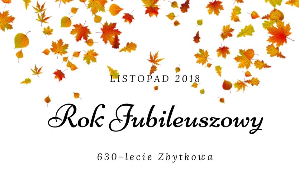 Jubileusz 630-lecia Zbytkowa – listopadowe wydarzenia