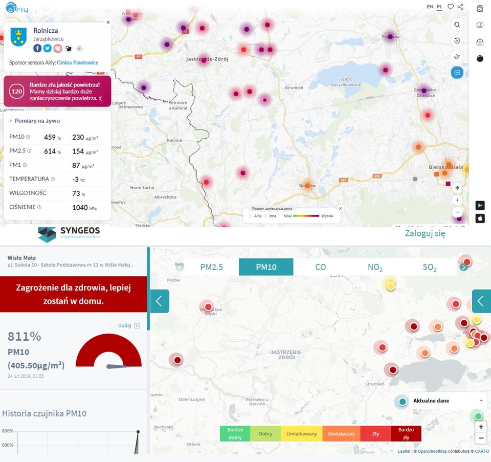 Ostrzeżenie o bardzo złej jakość powietrza w regionie