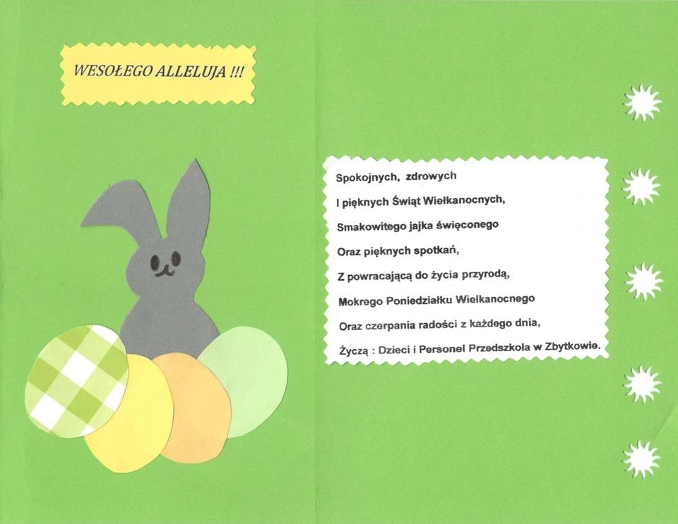 Życzenia Wielkanocne od przedszkolaków