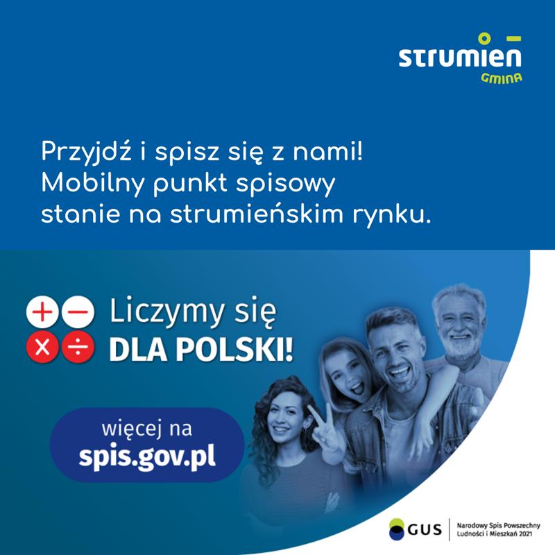 Mobilny Punkt Spisowy oraz szczepienia bez rejestracji na rynku w Strumieniu