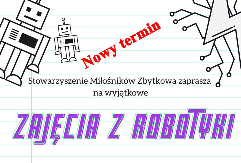 Nowy termin zajęć z robotyki